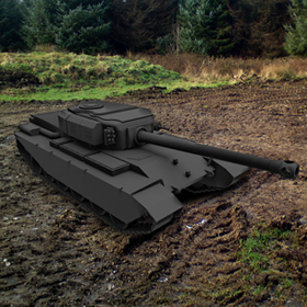 WW2 Tank for printing