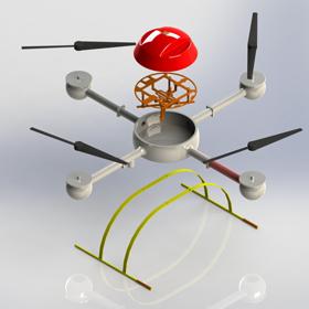 Quadrocopter drone concept