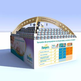 Pampers display design