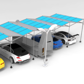 Portable Solar parking Shade