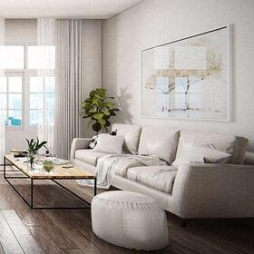 Living room sofa and coffee table