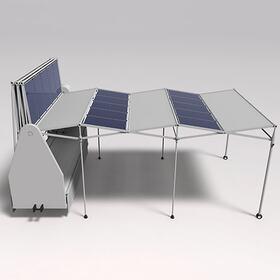 Solar parking shade animation