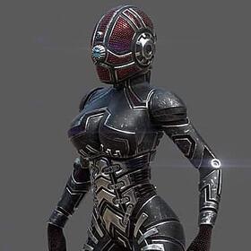 3D cyber girl