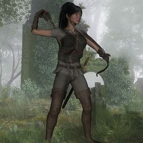 3D female warrior