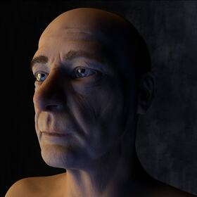 3D older male character