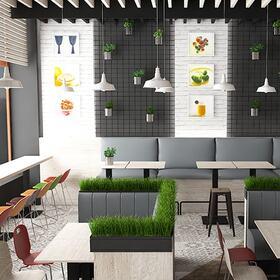 3D fast food restaurant fly-through