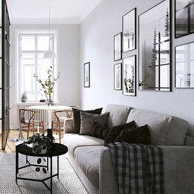 3D living room fly-through