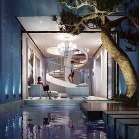 3D pool house presentation