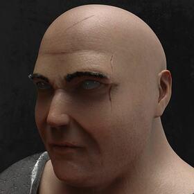 Brute character 3D sculpting