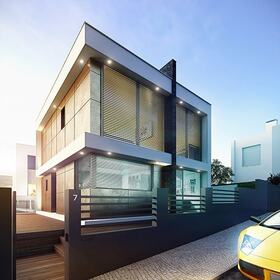 3Ds Max house facade modeling