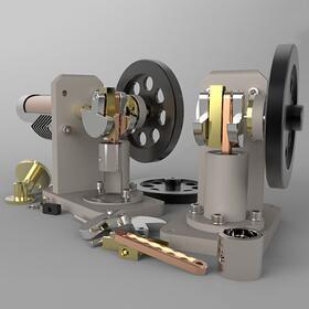 Miniature horizontal stirling engine