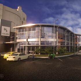3D commercial building site planning