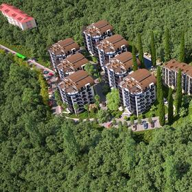 3D apartment complex site planning