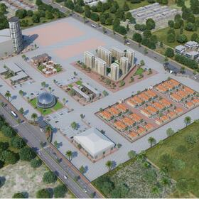3D residential area site planning