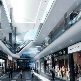 3D shopping mall rendering