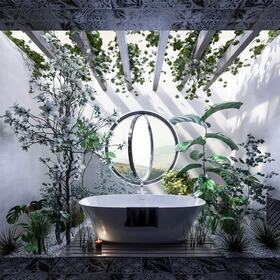 3D hotel bathroom design