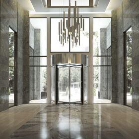3D hotel entrance rendering