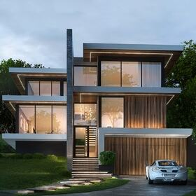 Single family home rendering