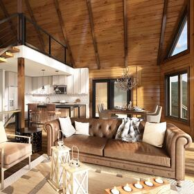 Home interior rendering