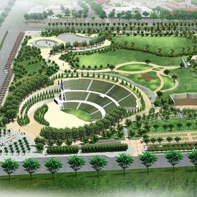 Park landscape rendering
