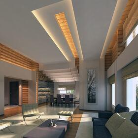 Log cabin 3D rendering