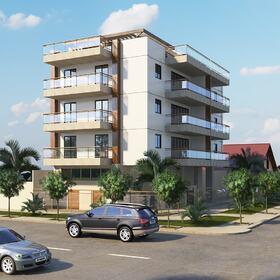 Apartment building 3D rendering