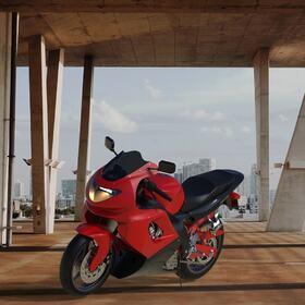 Yamaha YZF600R HDR rendering
