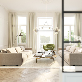 Living room VR rendering