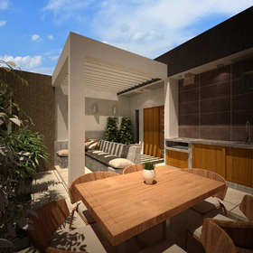 Backyard architectural design