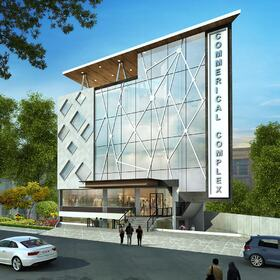 Commercial complex 3D architectural animation