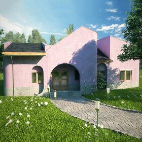 Bungalow 3D architectural visualization