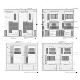 Condo complex architectural drawings