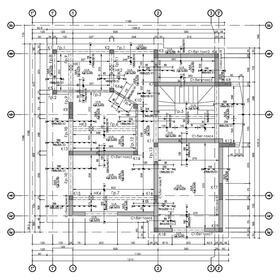 Two floor family house engineering drawings
