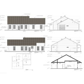 Custom home construction drawings
