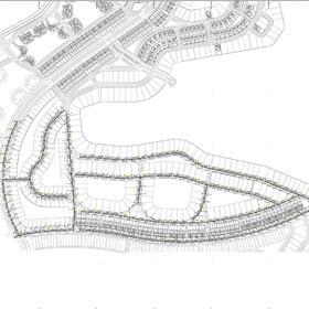 Sewage network construction drawing