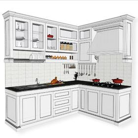 Kitchen architectural 3D drafting