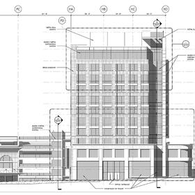 Office building architectural CAD design