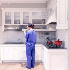 Kitchen architectural CAD 3D design