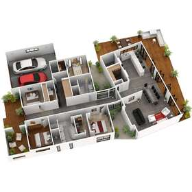 House architectural floor plan