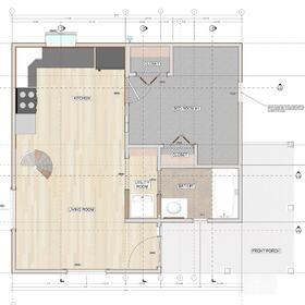 Residential house floor plan