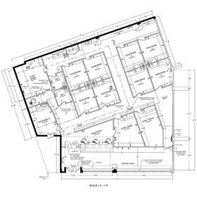 Health clinic floor plan design