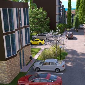 Residential complex landscape design