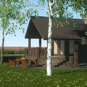 Village house landscape design