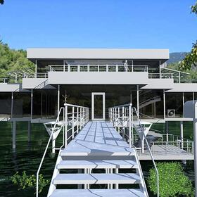 Steel and glass house