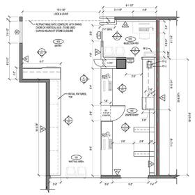 Private pharmacy construction drawings