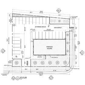 Commercial office design plan