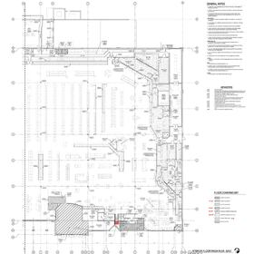 Grocery store construction drawings