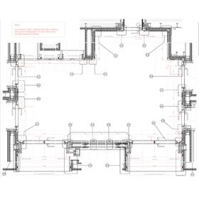 Retail space construction drawings