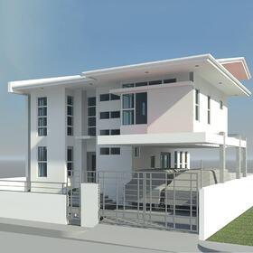 2-storey residential house Revit design