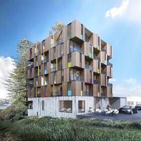 Apartment building structural design